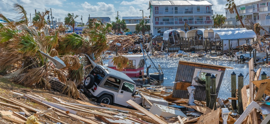 Mexico Beach in Florida, 16 days after Hurricane Michael hit in October 2018.