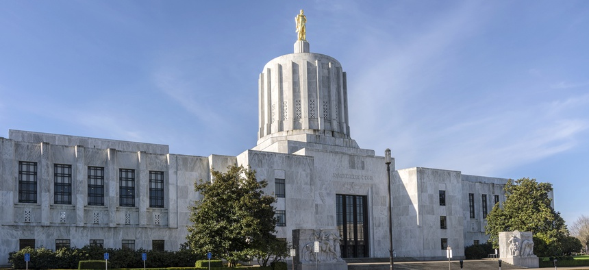 The State Capitol building in Salem, Oregon.