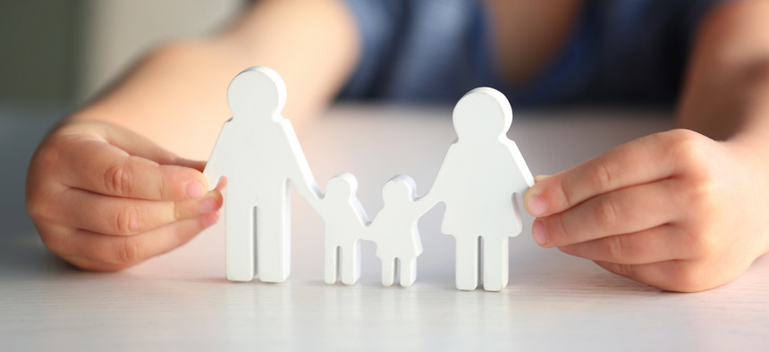"The state promotes ""permanency"" for children in foster care, which can mean adoption or reunification with biological parents or other families."