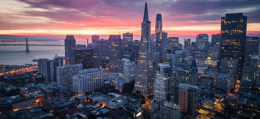 San Francisco, seen here, is one of the nation's major tech hubs. A group of researchers is proposing a program to help other cities grow their tech and innovation economies.