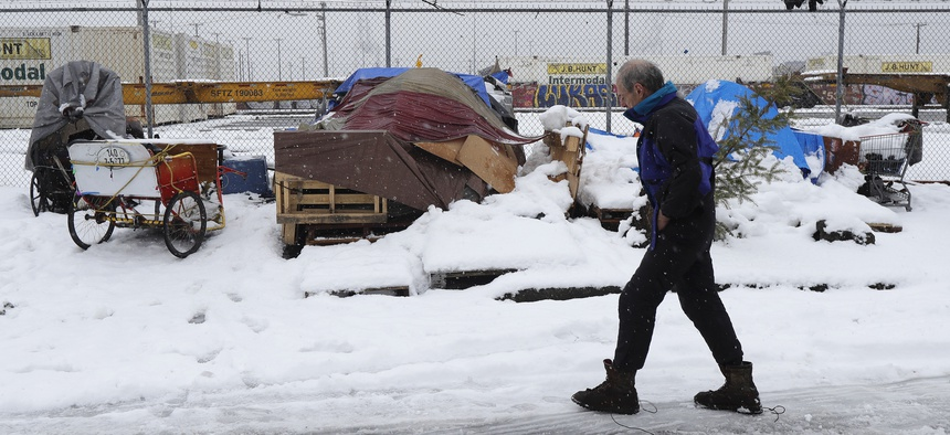 Kevin Shepherd, who lives in a tent in Seattle, said keeping warm is the hardest task in winter. Supporters of the eviction moratorium bill said that the measure is necessary to prevent more people from ending up in the street during cold months.