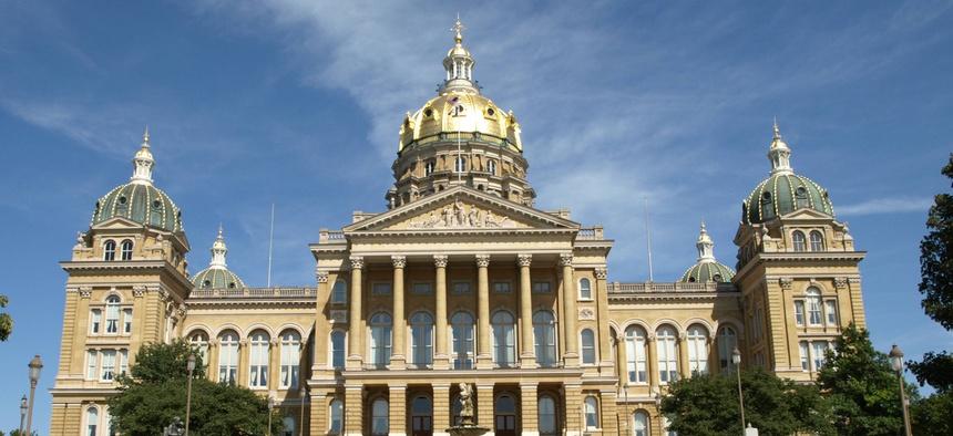The Iowa state legislative building.