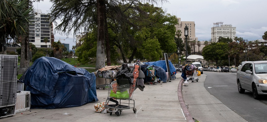 Los Angeles has been clearing encampments to put residents in motels.