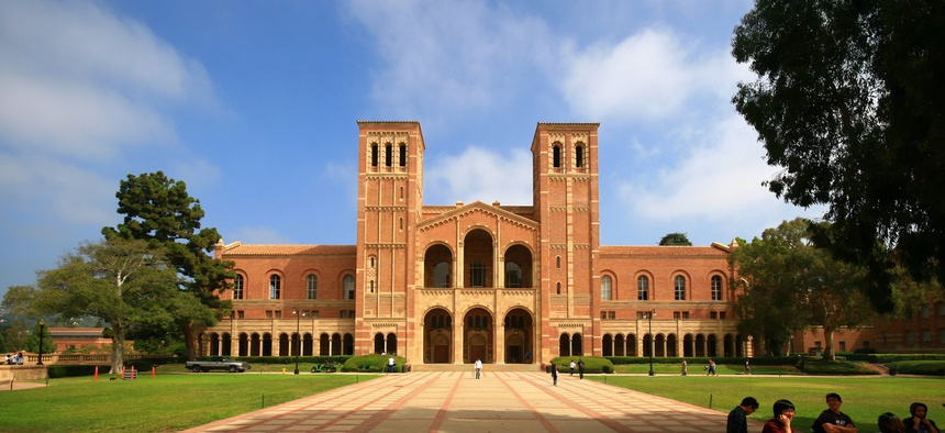 The University of California, Los Angeles. The UC system has 10 campuses spread throughout California,  and they're in different environments.