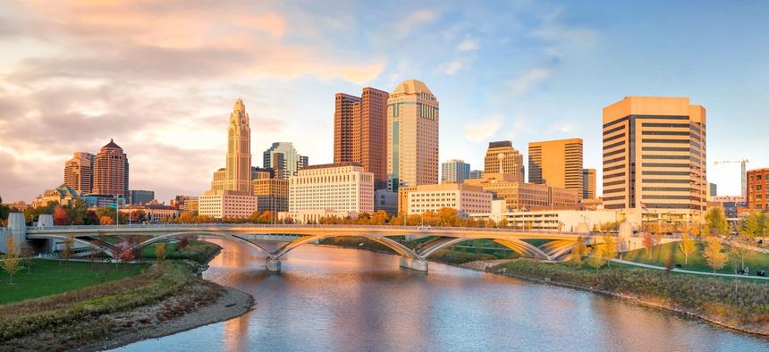 The city skyline in Columbus, Ohio.