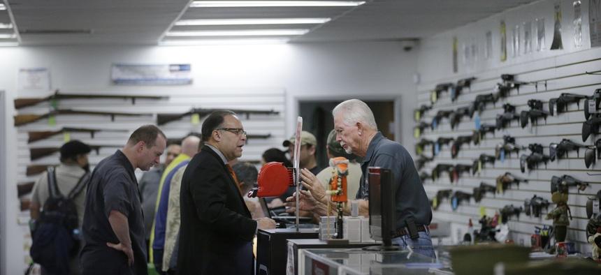 A gun shop in Riverside, California in 2015.