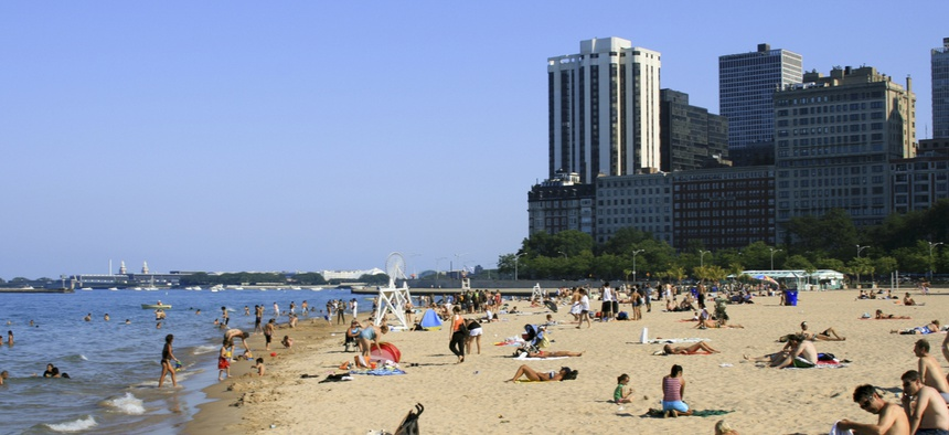 Outraged by people frolicking on the lakeshore this week in Chicago, Mayor Lori Lightfootsent the policeto barricade the beaches.