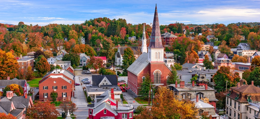 The skyline of Montpelier, Vermont. Small towns like Montpelier should explore opportunities to attract millennials.