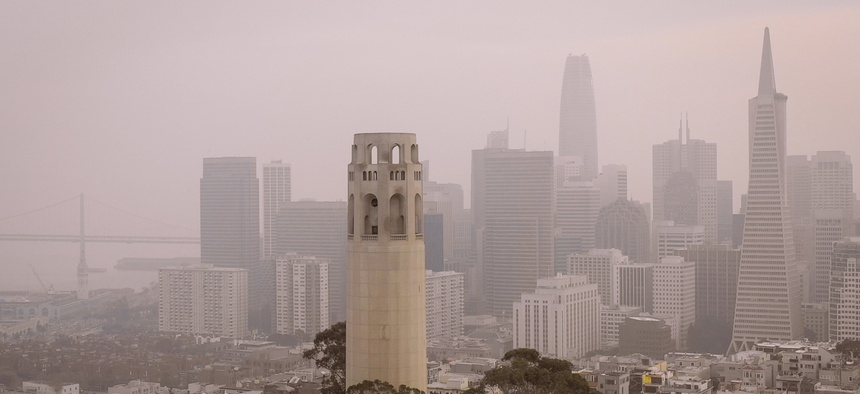 San Francisco, like much of California, is covered in a thick blanket of wildfire smoke.