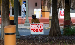 A polling place in Florida.