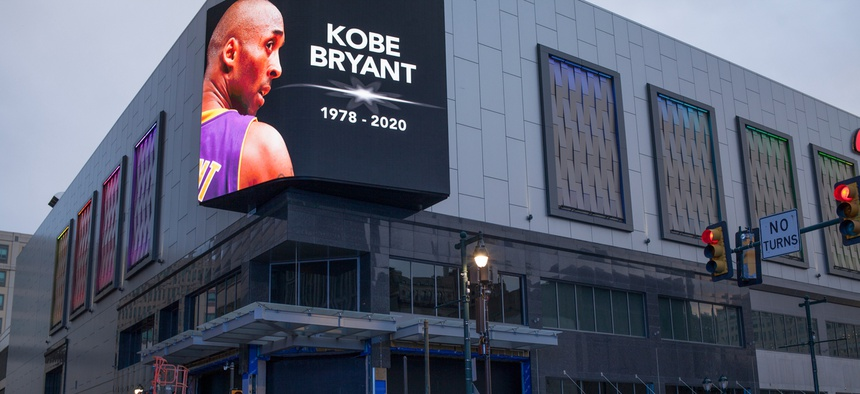 A tribute to Kobe Bryant following his death.