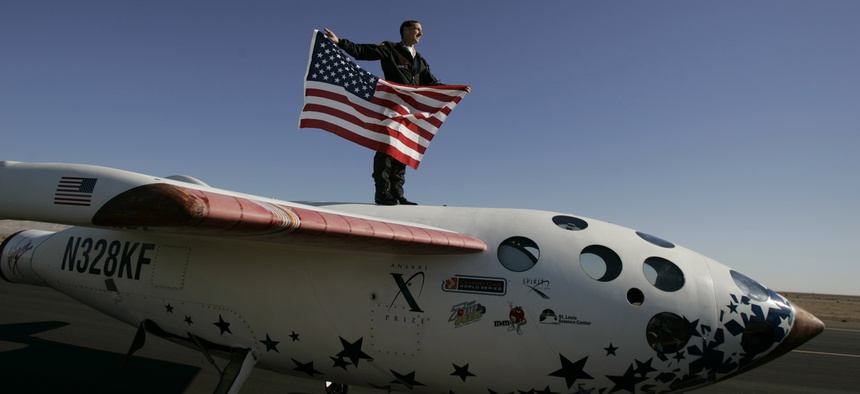 SpaceShipOne took home the $10 million Ansari X Prize in 2004.