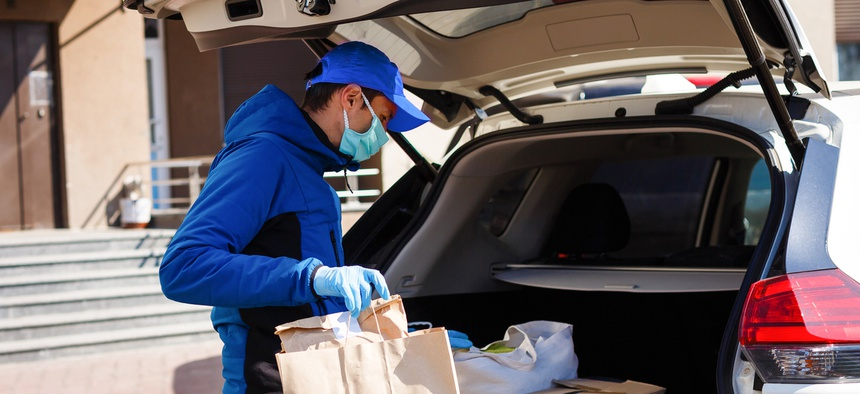 Carjackings and the theft of food delivery drivers' vehicles has shot up in some cities during the COVID-19 pandemic.