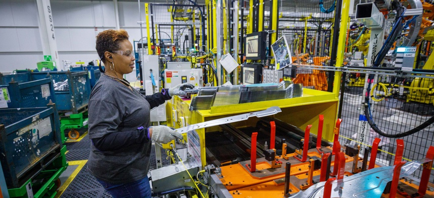 States with manufacturing jobs are bouncing back from the pandemic more quickly than those dependent on tourism or energy.