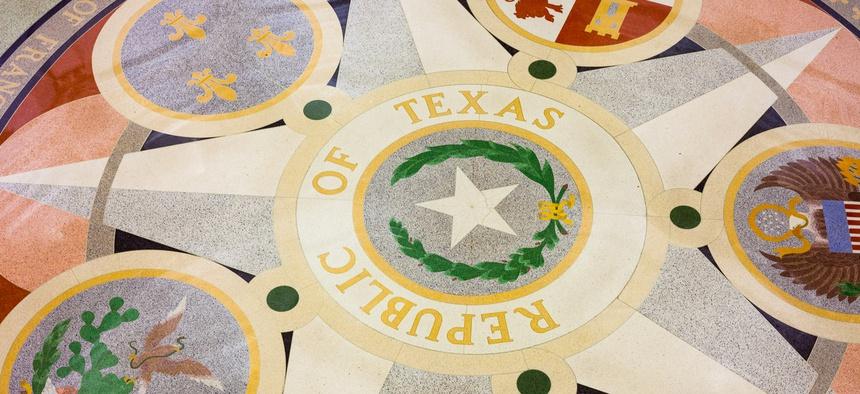 The rotunda of the Texas Statehouse.