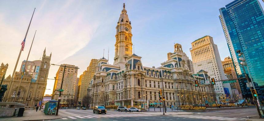 Philadelphia's city hall.