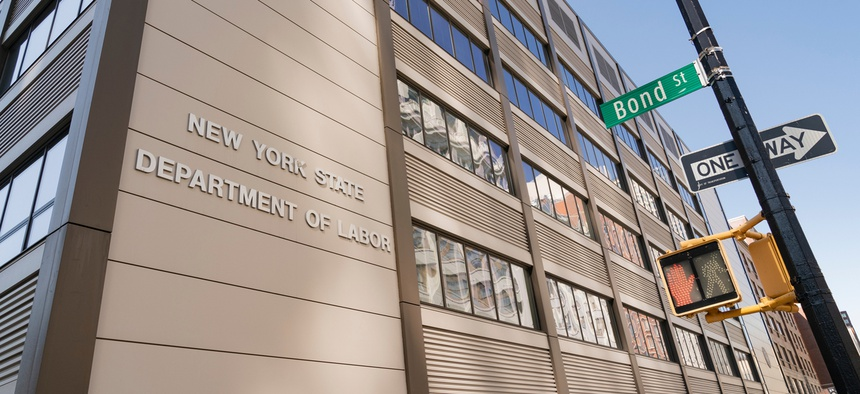 The Brooklyn office of New York State Department of Labor.