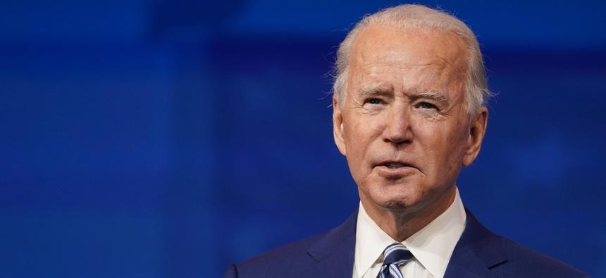 President-elect Joe Biden speaks at The Queen theater in Wilmington, Del. on Dec. 9, 2020.