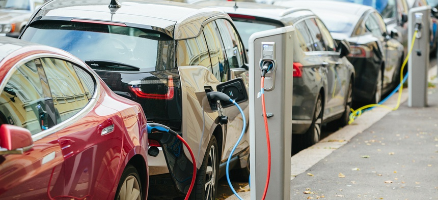 With more charging stations in place, auto manufacturers may find that it makes good business sense to shift more of their research and development to electric vehicle production.