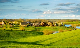 Residential neighborhood in Kentucky's Bluegrass region.