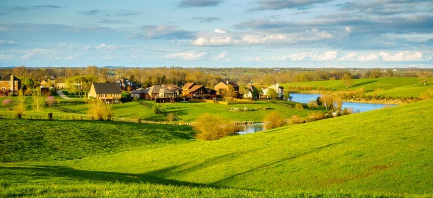 Residential neighborhood in Kentucky's Bluegrass region.