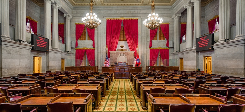 House of Representatives Chamber in the Tennessee State Capitol building on December 1, 2014 in Nashville, Tennessee