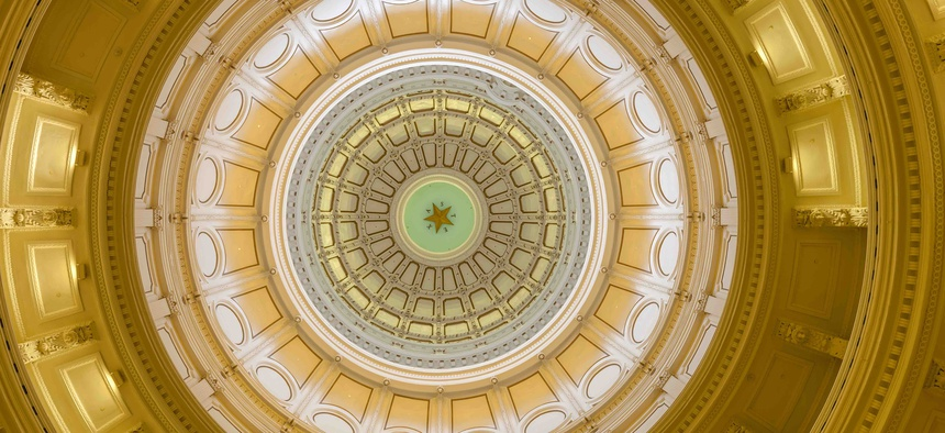 A view of the interior of the Texas state Capitol, in Austin.