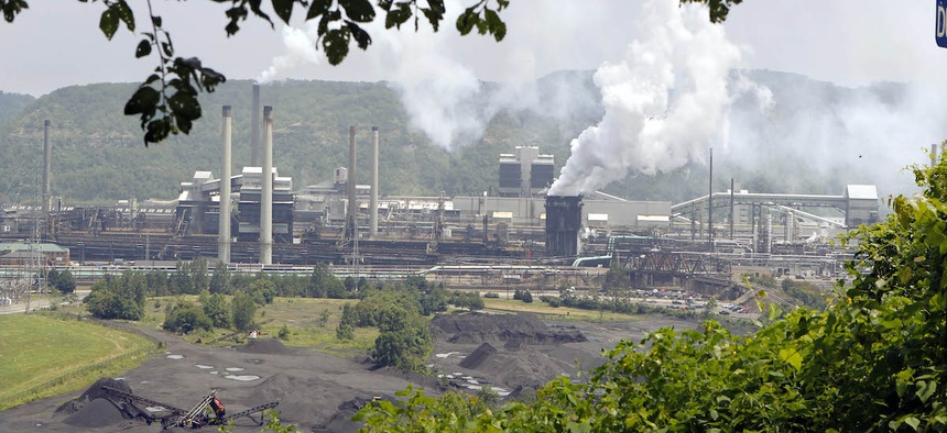The United States Steel Corp.'s Clairton Coke Works is seen from the hill above it in Clairton, Pa., Wednesday, July 14, 2010.