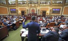 Republican outgoing House Speaker Greg Hughes speaks before the Utah House of Representatives