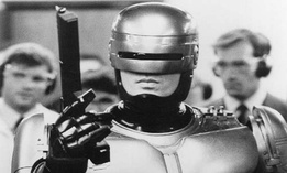 RoboCop, a 1987 science fiction movie, tells the story of a police officer killed in the line of duty and brought back to life as a crime-fighting cyborg.