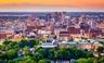 The skyline of Birmingham, Alabama.